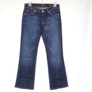 Dark Blue Bootcut Jeans 27 x 30